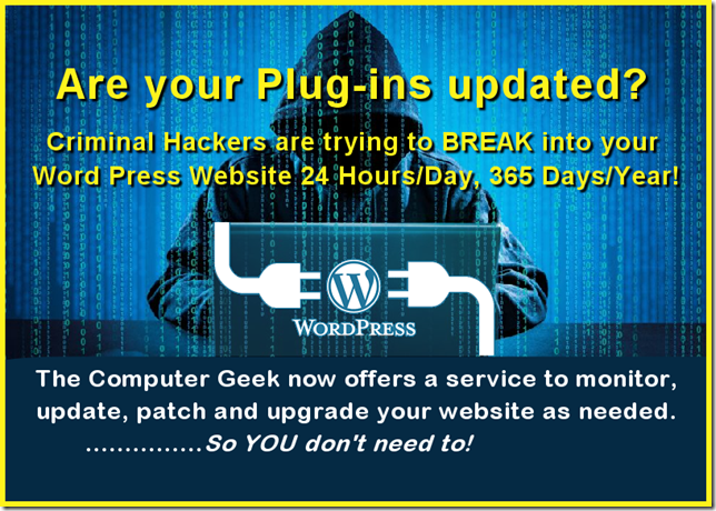 Are Your WordPress Plug-ins Updated?